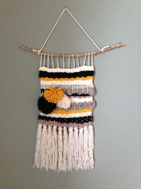Tissage en laine mural décoratif MERINOS dentelle par TxikiTiss
