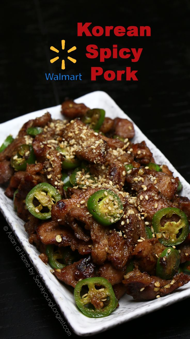 Walmart Asian Spicy Pork Recipe & Video - Seonkyoung Longest