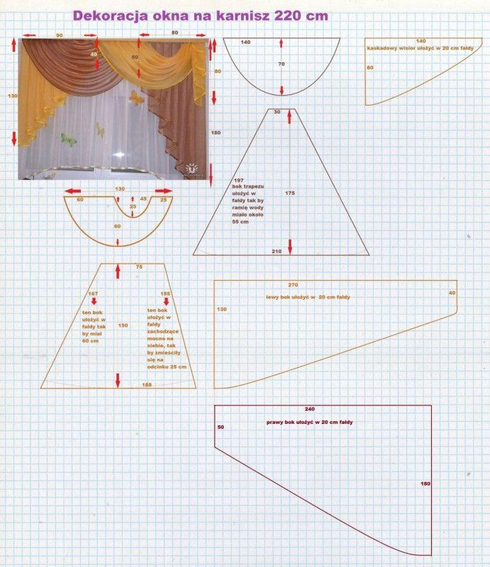 Mejores 23 imágenes de cortinas en Pinterest   Patrones de cortinas ...