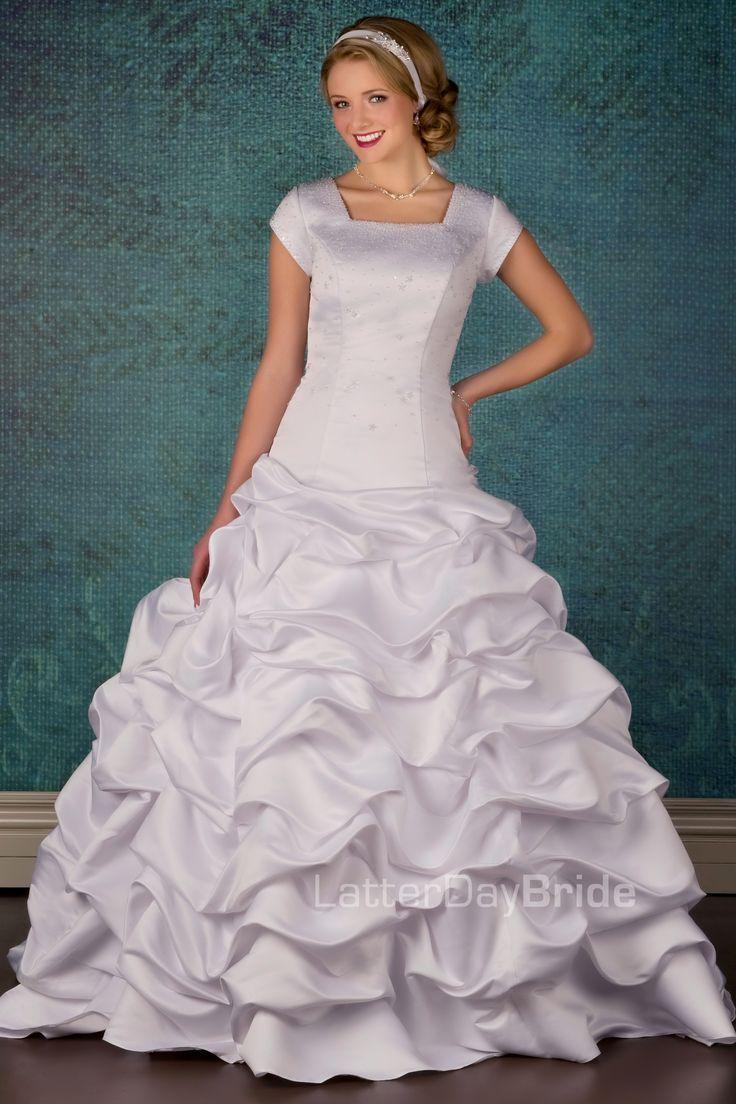 The 54 best modest wedding dresses images on Pinterest   Short ...