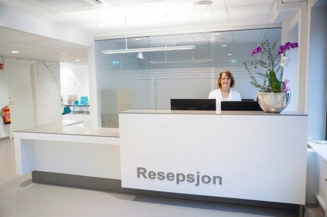 reception desk Corian - Designermade Norway