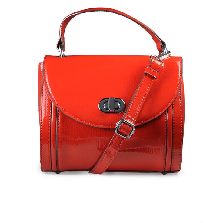 Melie Bianco Agnes Barrel Bag Red