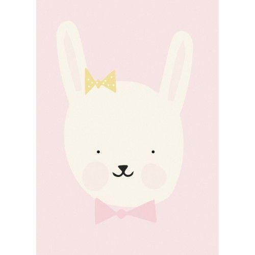 Eef Lillemor poster miss bunny 29.7 x 42 cm