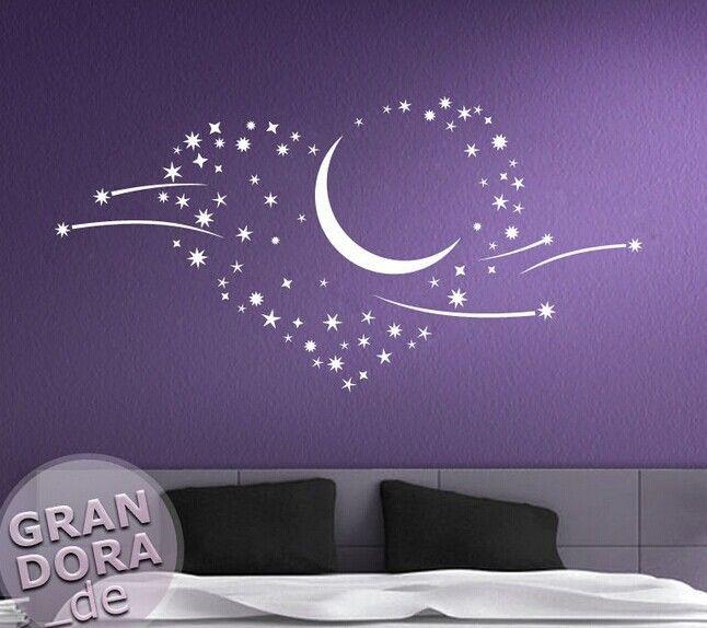 112 57 cm 2015 romantische slaapkamer woonkamer stickers maan en sterren muursticker voor muurschildering kamer decoratie in Efffect foto's en product foto's           van muurstickers op AliExpress.com | Alibaba Groep