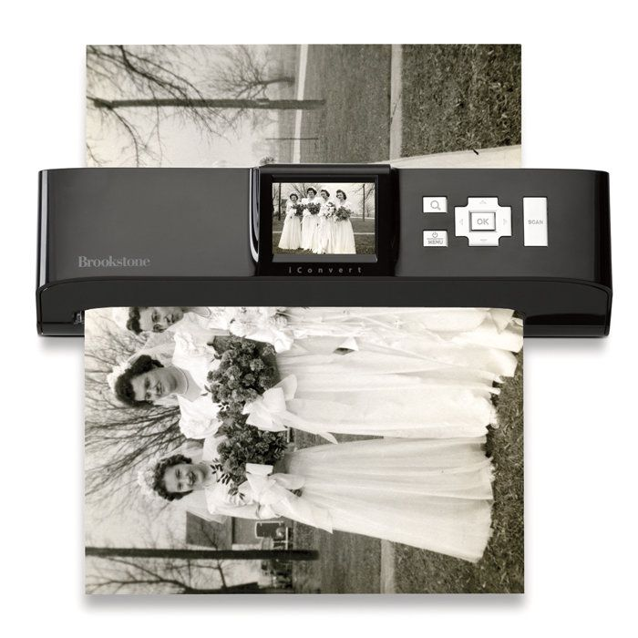 Converts photos to digital files in seconds—no computer needed! Great for those heaps of old family photos!