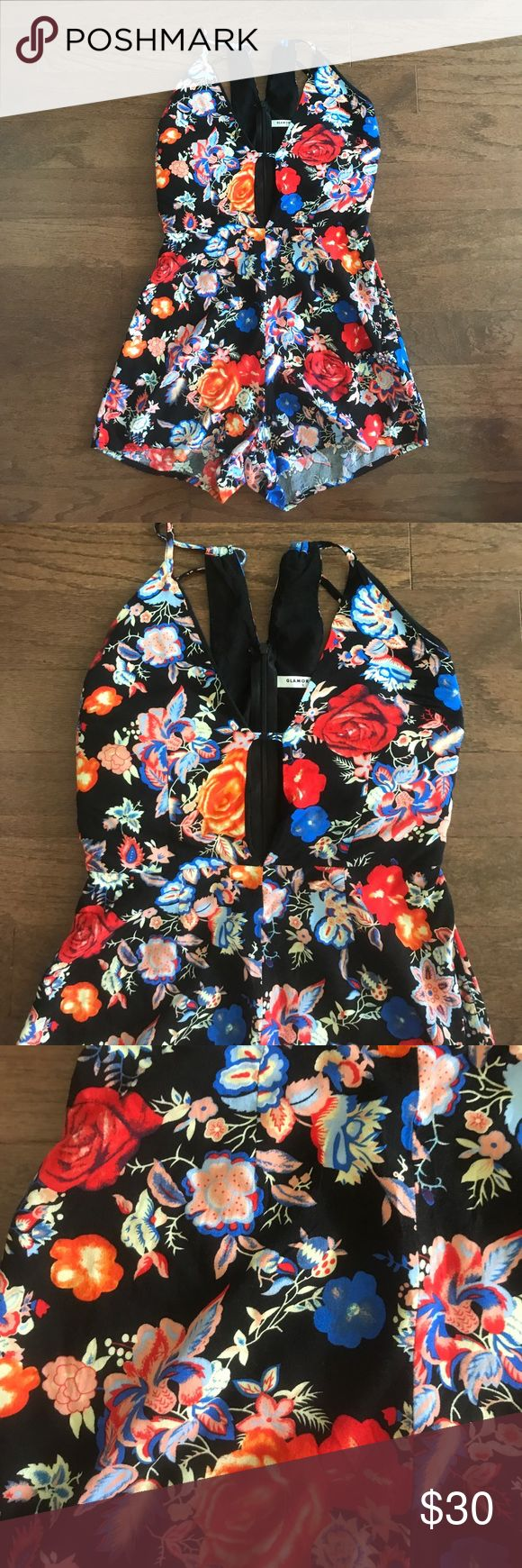 Floral low cut sexy romper Boho chic Floral low cut romper by brand glamorous , so sexy , worn and washed once , so hot; first pic is a stock photo showing what the romper looks like on , the print is the 2nd photo ............. ..........................................Tags:  tigermist tiger mist urban outfitters free people anthropologie  asos missguided nasty gal hello molly selfie leslie xenia boutique boohoo Windsor  Free People Dresses