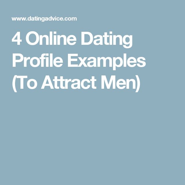 Online dating profile men