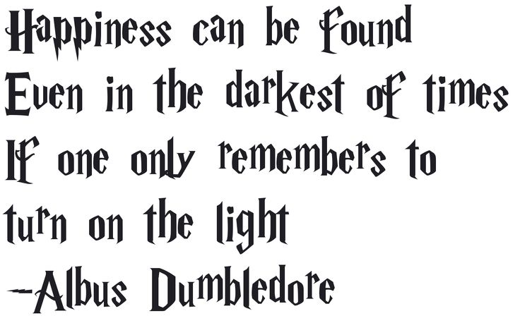 New Style for Harry Potter Font