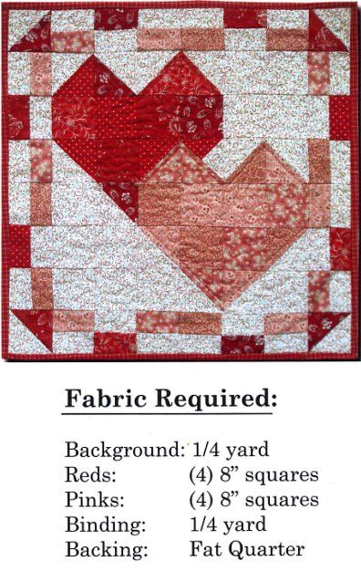41 Best Valetines Day Images On Pinterest Heart Quilts