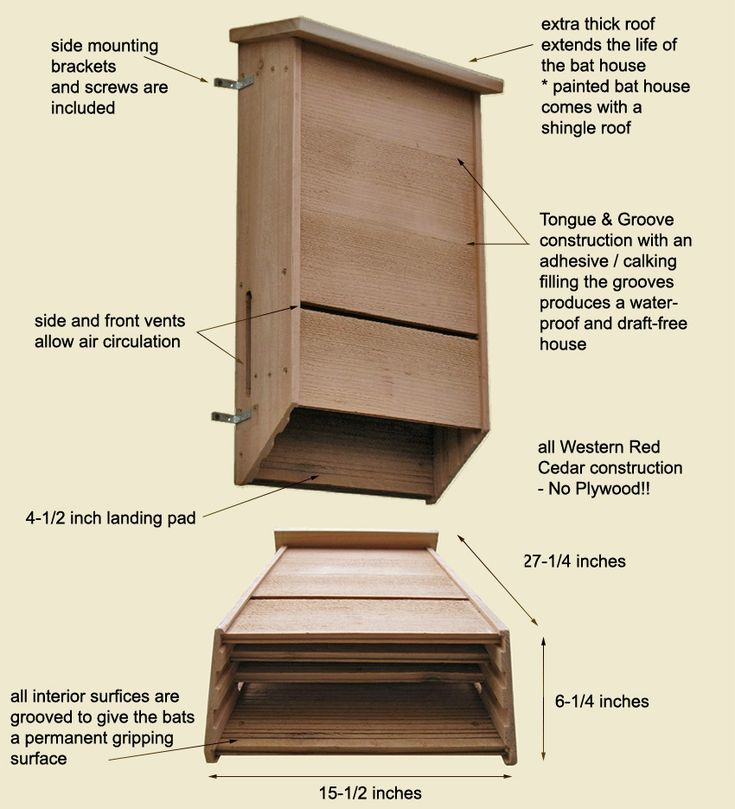 Triple Chambered Bat House Plans - WoodWorking Projects ...
