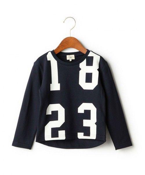 【セール】【KIDS】BIGナンバリング プルオーバー ロングスリーブ(Tシャツ/カットソー)|green label relaxing(グリーンレーベルリラクシング)のファッション通販 - ZOZOTOWN