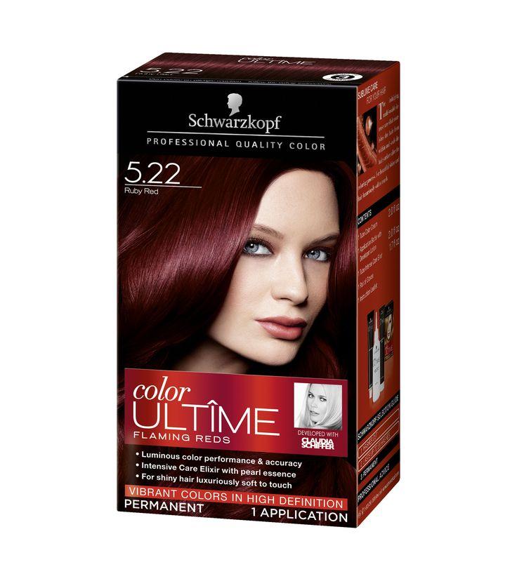 Couleur de cheveux rouge ruby