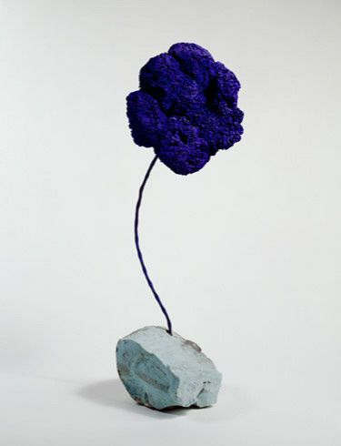 Yves Klein / Blue Sponge (L'eponge bleue) / 1959 / Dry pigment in synthetic resin on sponge with metal rod and stone base