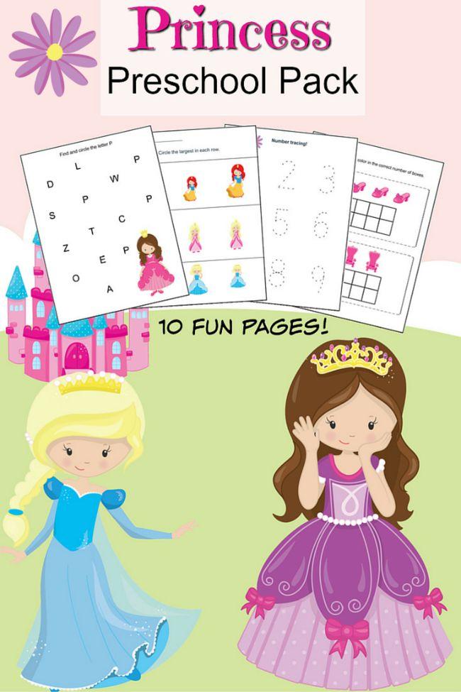 Princess Preschool Printable Worksheet Pack