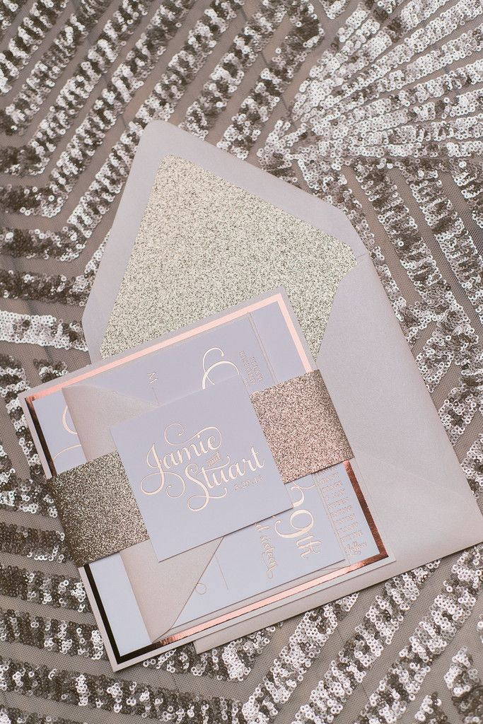 ADELE Suite Fancy Glitter Package. Square Wedding InvitationsEngagement ...