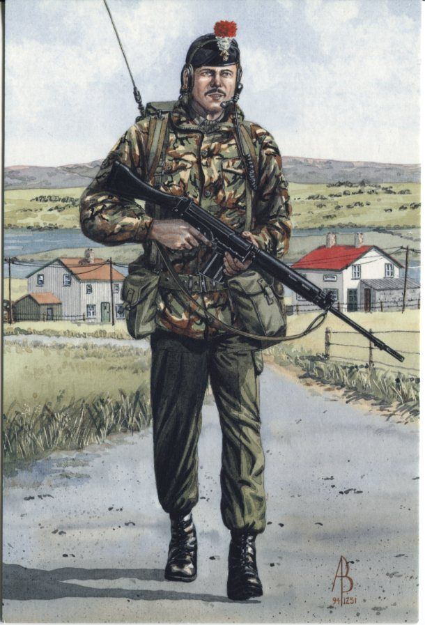 Alix Baker Postcard - AB21/6 Radio Operator, 2nd Bn, Royal Regiment of Fusiliers (5th,6th, 7th, & 20th Foot), 1984 (Falkland Islands)