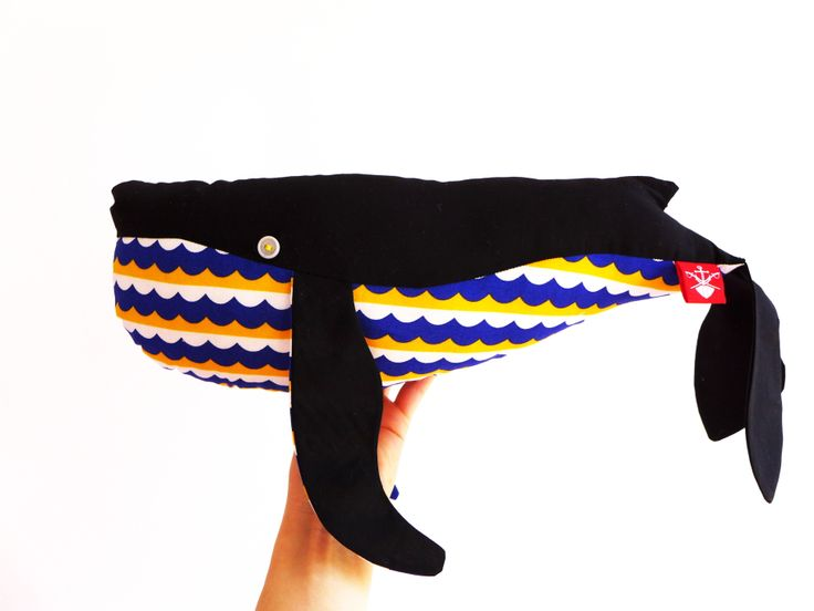 The ADVENTURE Begins present: soft #whale, #handmade cotton #moby dick, 50cm https://www.facebook.com/theadventurebegins
