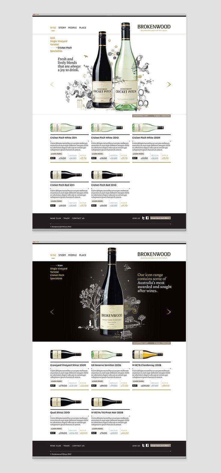 Brokenwood Wines website