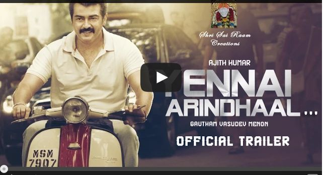 Yennai Arindhaal (aka) Yennai Arindhaal trailer. Yennai Arindhaal (aka) Yennai Arindhaal is a Tamil movie with production by AM Rathnam, Sri Satya Sai, direction by Gautham Menon, cinematography by Dan Macarthur, editing by Anthony. The cast of Yennai Arindhaal (aka) Yennai Arindhaal includes Aadhi, Ajith Kumar, Anushka.Yennai Arindhaal , Yennai Arindhaal , Tamil movie Yennai Arindhaal online, Tamil movie Yennai Arindhaal online, Yennai Arindhaal trailer , Yennai Arindhaal trailer, Yennai…