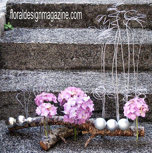 Modern Christmas flower arranging with floraldesignmagazine.com
