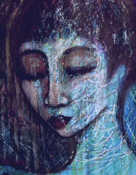 Paintings - RAINBOW GIRL - AN ORIGINAL PAINTING BY OVERBERG ARTIST CELESTE FOURIE-WIID for sale in Hermanus (ID:259001540)
