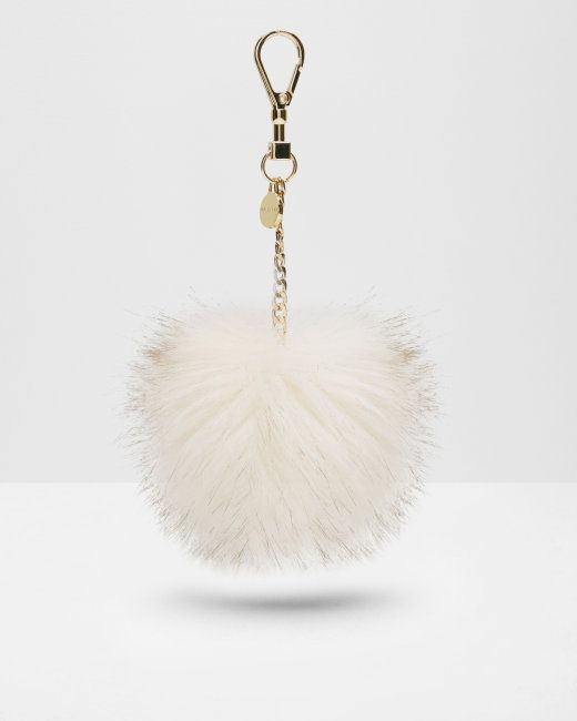 Faux fur bag charm - Cream | Gifts for her | Ted Baker NEU