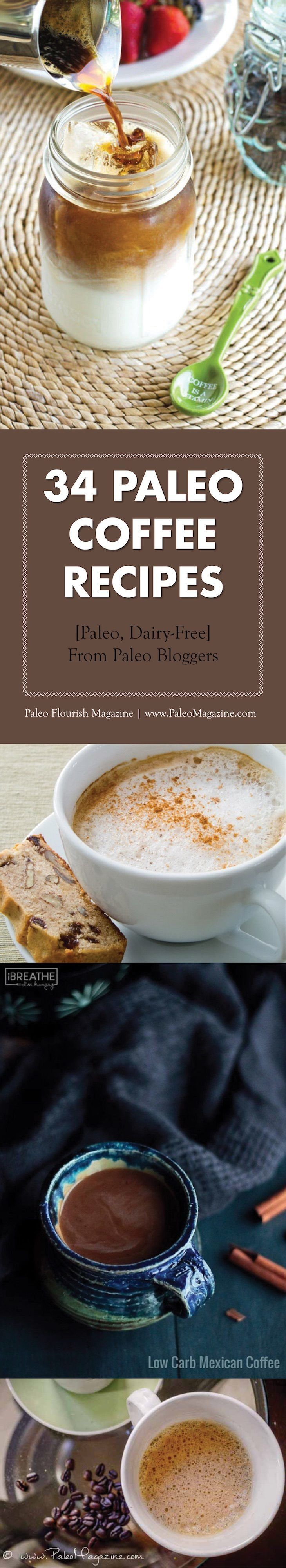35 Paleo Coffee Recipes #paleo #coffee #recipes http://paleomagazine.com/paleo-coffee-recipes