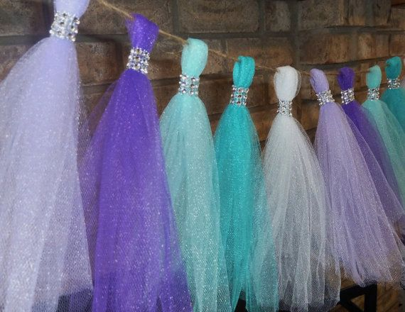 aqua teal lavender purple tulle mermaid by aprincesspractically