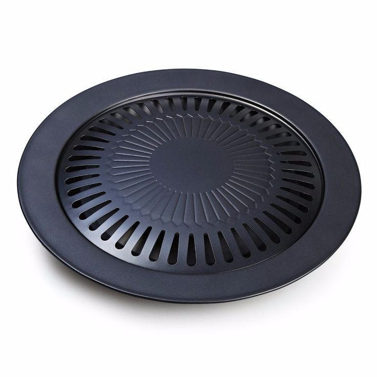 1PCS Non-stick Grill Pan Refined Iron For BBQ Plate Healthy Smokeless Barbecue Plate Cooktop Parts