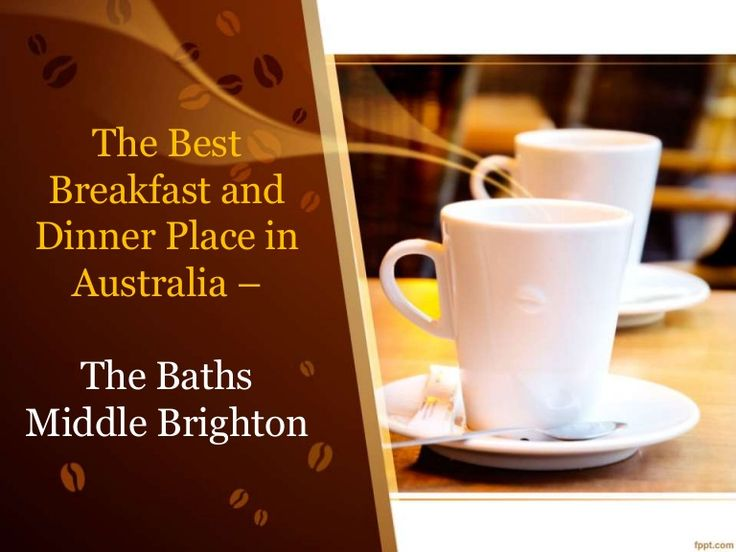 Looking for a venue breakfast in calm weather near sea ? Come and Experience breakfast in The Middle brighton baths restaurant near port philip bay and make your first meal in the stimulating beachside air.Watch this slide show to know more