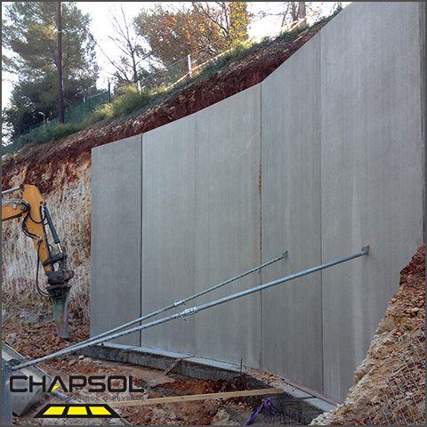 Murs de soutènement en béton Chapsol