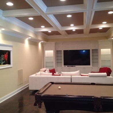 23 best split level interiors images on pinterest basement designs basement ceilings and - Cool basement ideas ...