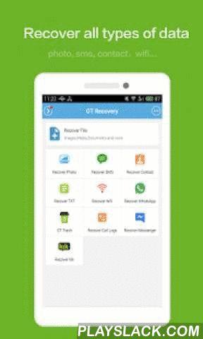 GT Recovery - Undelete,Restore  Android App - playslack.com ,  GT Recovery (http://www.gtrecovery.net/) kunt bestanden undelete, herstellen van verloren foto's door middel van het scannen van de opslag op uw telefoon.GT Recovery is volledig gratis. We proberen om het meer en krachtiger te maken, hopen meer mensen te helpen om verwijderde gegevens te herstellen.Als u per ongeluk iets belangrijks verwijderd op uw telefoon, geformatteerd uw geheugenkaart, of herstellen van uw telefoon naar de…