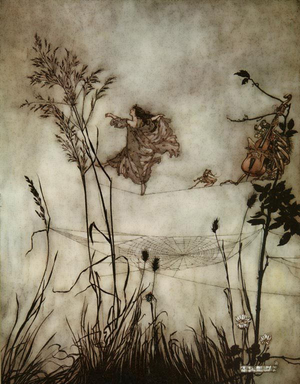 The Fairies are Exquisite by Illustrator Arthur Rackham (1867-1939), http://www.artsycraftsy.com/rackham_prints.html $83