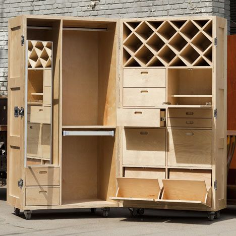 Define  Home  Anywhere  Mobile Crate Furniture  Kitchen  Bedroom Etc  By  Naihan Li. 153 best                  images on Pinterest   Road cases