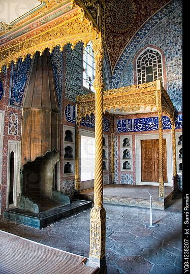 Privy Chamber of Ahmed I, the Harem and the Sultan´s Private Apartments, Topkapi Palace Museum, Istanbul, Turkey