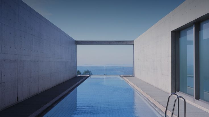 Small luxury hotel in Setouchi. Total 7 all suite rooms built by the famous Tadao Ando, sits on top of the mountain overlook the blue sky reflect off the calm mirror like Seto Inland Sea.