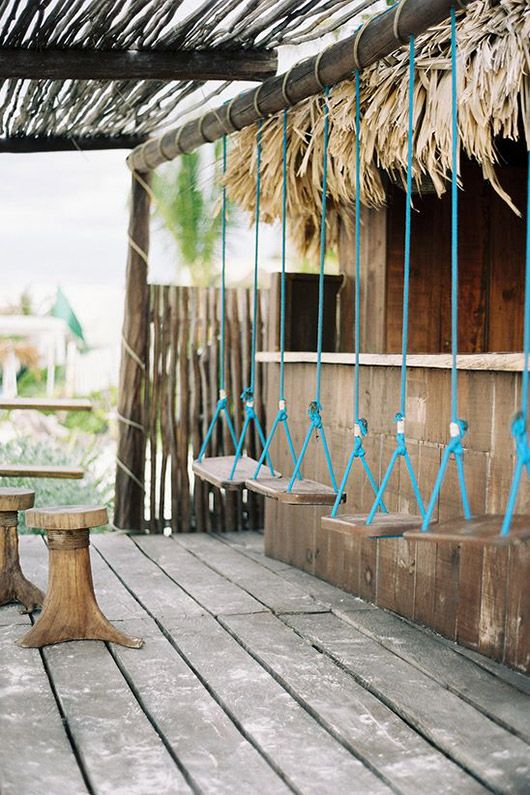 tulum bar swings / @sfgirlbybay