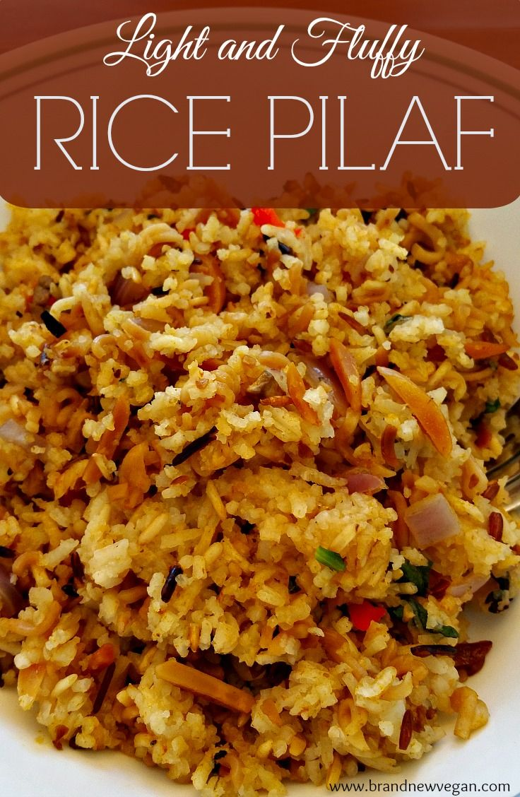 A light and fluffy rice pilaf, with added mushrooms, onions, spinach, and bell pepper. This recipe is 100% vegan, and is also fat-free as it uses no oil. Super easy and super tasty, this will be your goto rice recipe for all those special occasions.