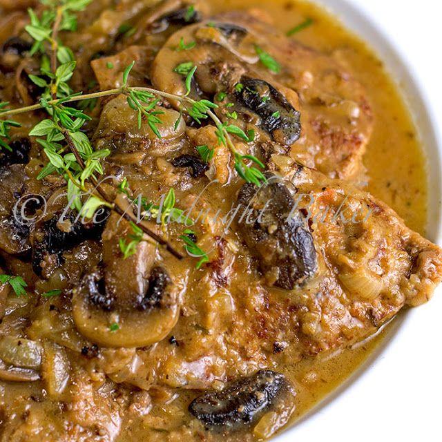 Braised Beef with Onion Mushroom Gravy