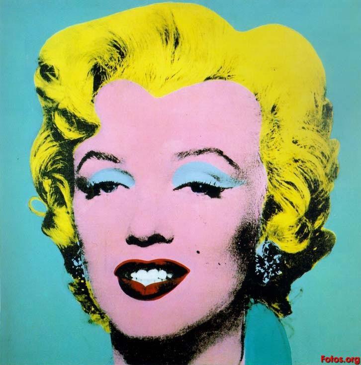 Andy Warhol (1928-1987) también fue uno de los principales representantes del Arte Pop. Esta es una pieza de Marilyn Monroe, sex symbol cinematográfico, hecho por el artista.