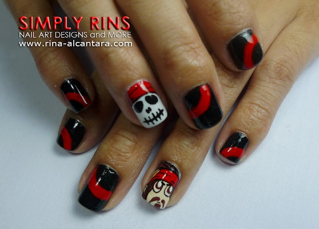 Pirates of the Caribbean nail art design 10