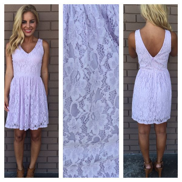 Lilac Floral Lace Cheryl Babydoll Dress.