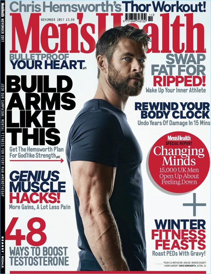 Chris Hemsworth Men's Health UK November 2017 Cover