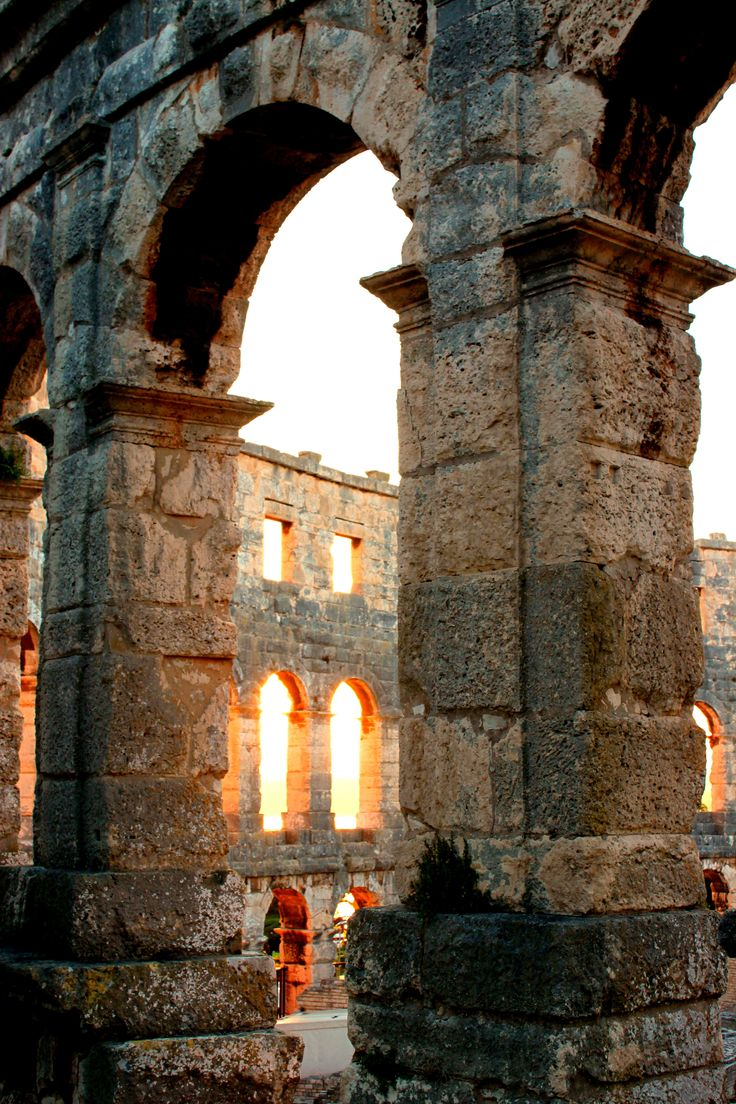 Pula Colosseum, Slovenia - magnificent and so well preserved.