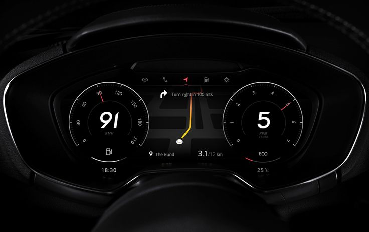 Clean and stylish car dashboard on Dribbble by Ramble Ren