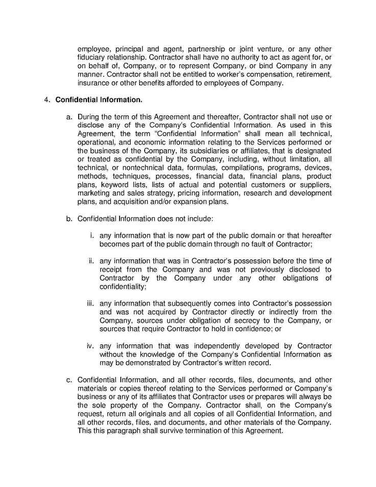 Independent Contractor Agreement Independent Contractor