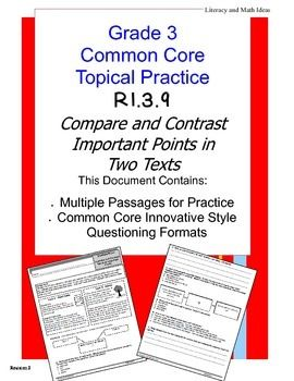 compare contrast standards Compare and contrast is the ability to analyze two a strong understanding of visual literacy as well as a high level of comparison ability standards pages.