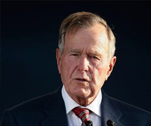 Former US President George Bush Broke a Neck Bone, But in a Stable Condition Now