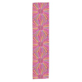 "14x72"" Table Runner Flowers Colorful graphic pink Short Table Runner"